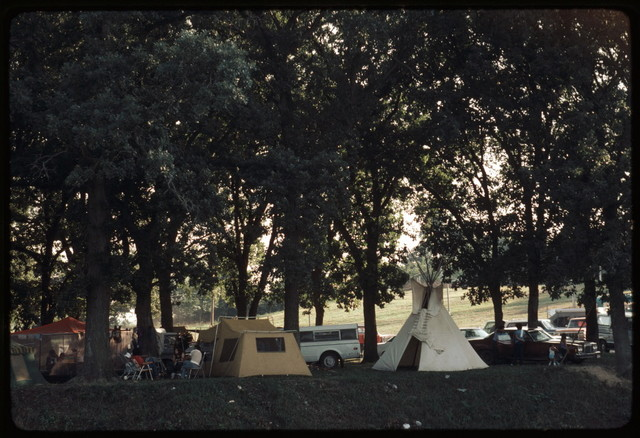 Morgan Lovejoy's Campsite, Pow-Wow from Road on the East