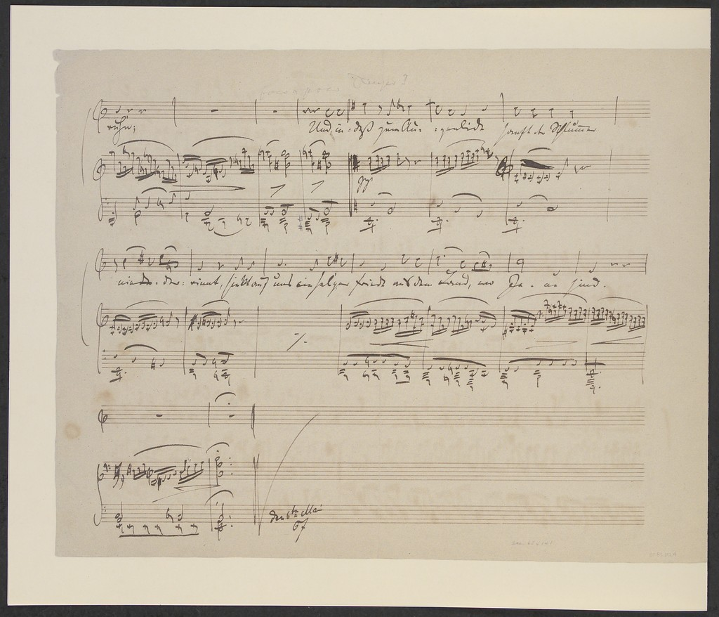 """Three Lieder on poems of Adolf Friedrich von Schack a facsimile of the autograph manuscripts of """"Abenddämmerung,"""" op. 49 no. 5, """"Herbstgefühl,"""" op. 48 no. 7, and """"Serenade,"""" op. 58 no. 8 in the collection of the Library of Congress"""