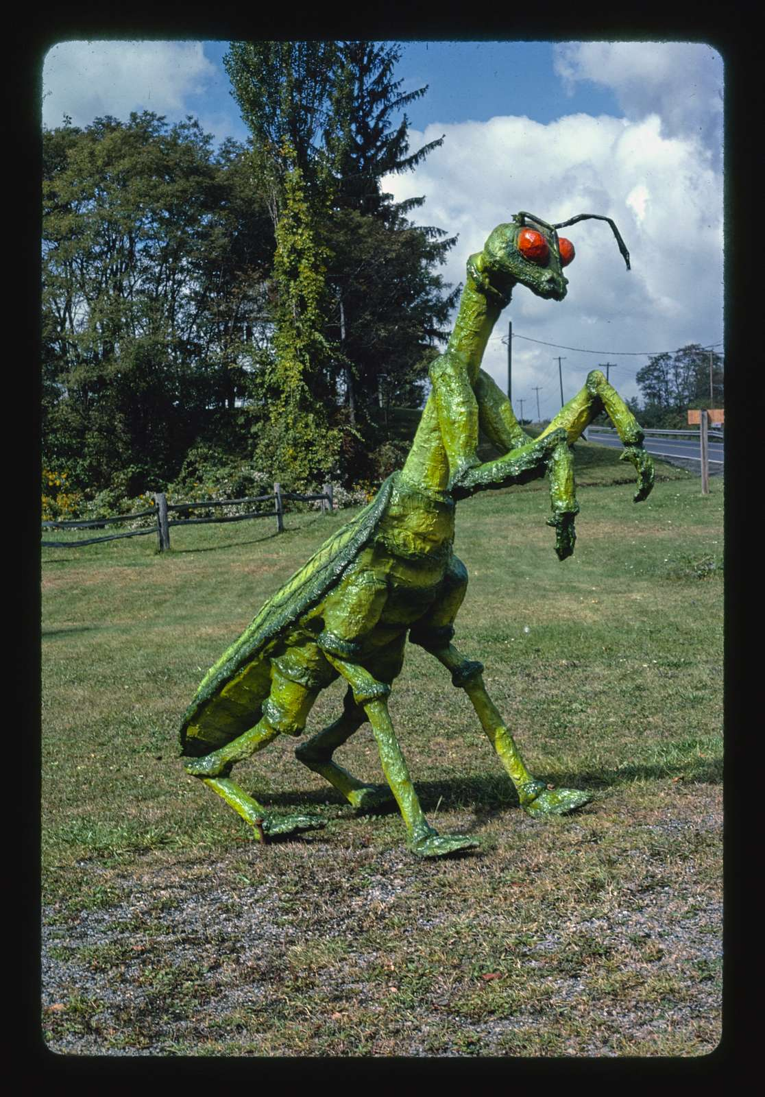 Praying Mantis statue at Second Time Around, Route 30, Boswell, Pennsylvania