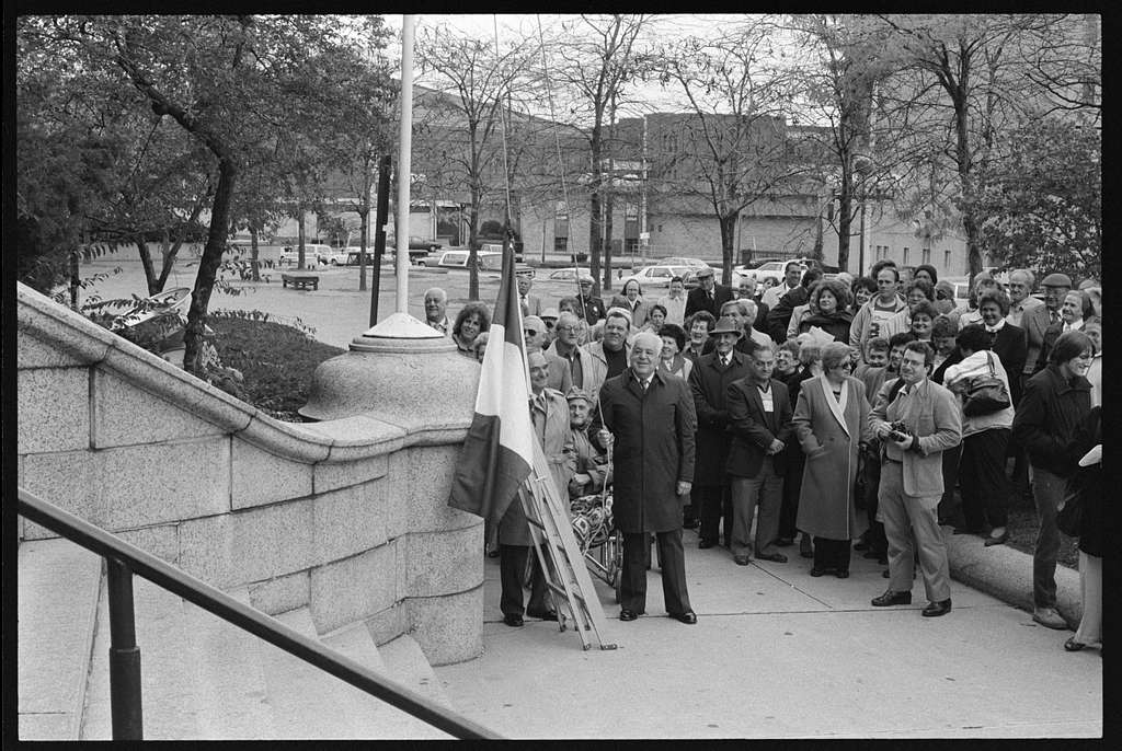 Dedication of Italian American Monument, Lowell, Massachusetts
