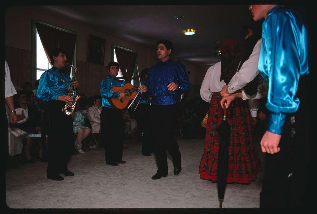 Carnaval celebration, St. Anthony Parish Hall, Lowell, Massachusetts