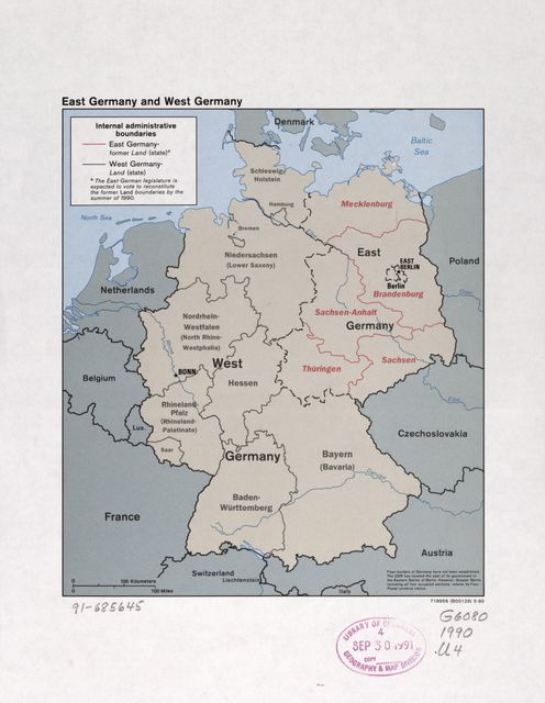 East Germany and West Germany.