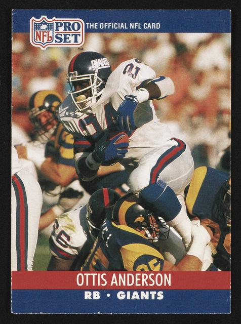 NFL pro set. Ottis Anderson