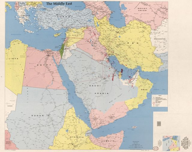 Franklin's CIA maps of the Middle East : Kuwait, Bahrain, Qatar, United Arab Emirates, the Persian Gulf, and Iraq /