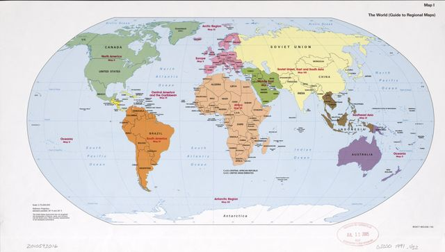 The world (guide to regional maps).
