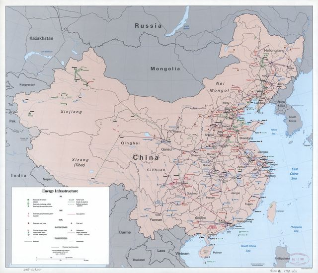 China energy infrastructure.