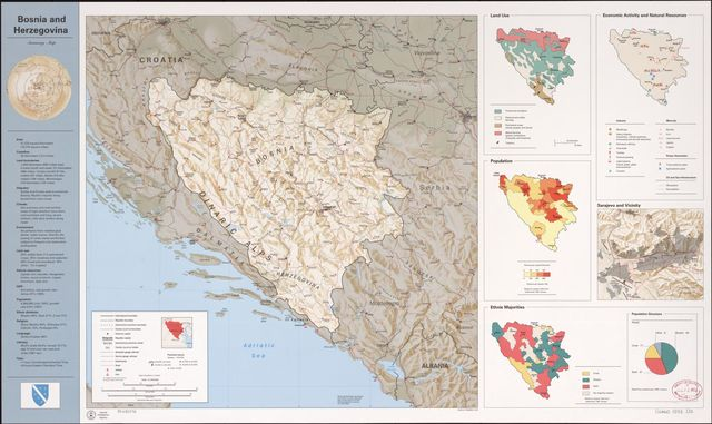 Bosnia and Herzegovina, summary map.