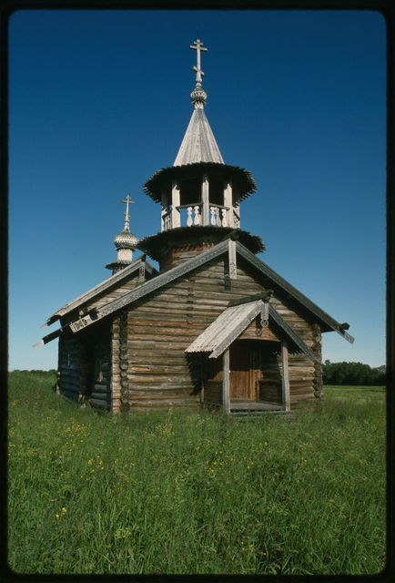 Chapel of the Dormition (late 17th century?), west view, Kizhi Island, Russia