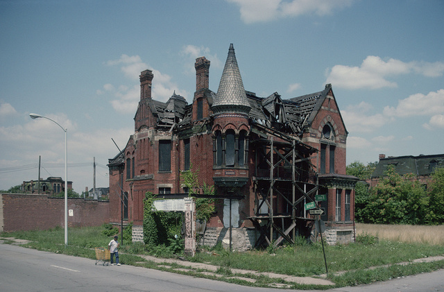 Ransom Gillis Mansion, Alfred at John R Streets, August 1993