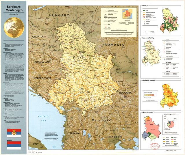 Serbia and Montenegro, summary map /