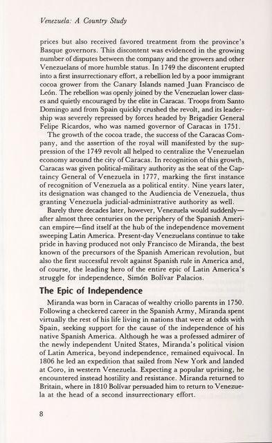 Venezuela : a country study /