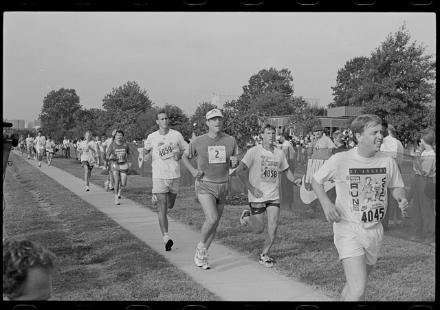 [Vice President Al Gore and others running in the Nike Capital Challenge race, Washington, D.C.]