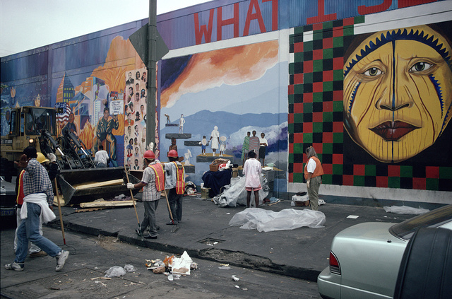 5th St. between Towne  Ave. and Crocker St., Skid Row, LA, 1994