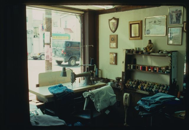 A view of one of the work spaces in the shop.