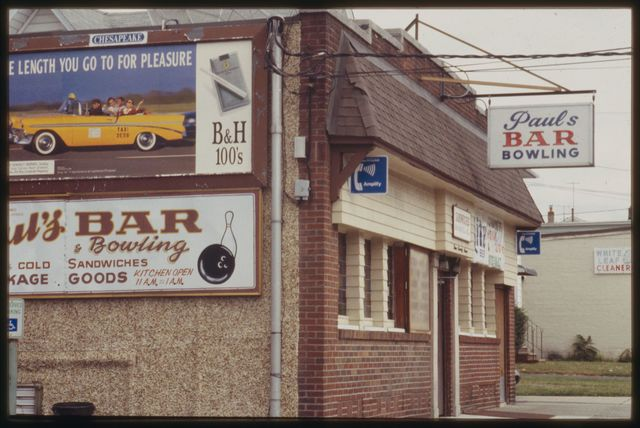 A view of Paul's Bar and Bowling on Crooks Avenue.
