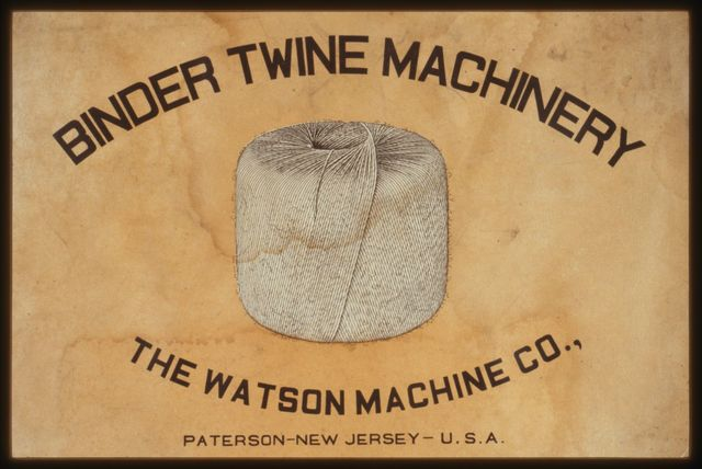 Covers of Watson cordage machines brochure, early 20th Century.