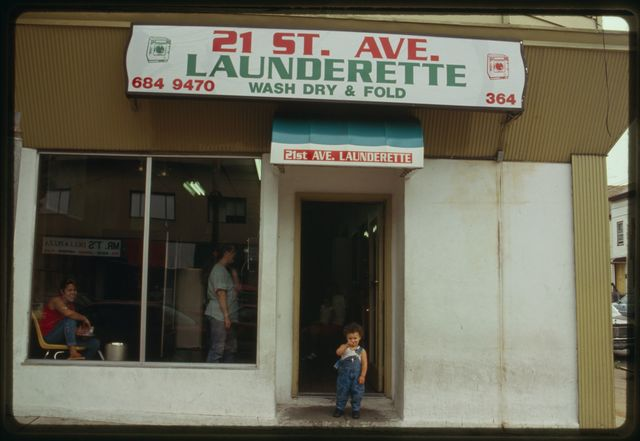 Exterior of 21st Avenue Launderette.
