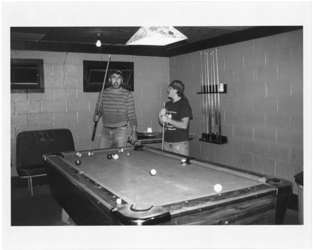 H.D. Price and Rick Pettry playing pool in the Sundial Tavern.