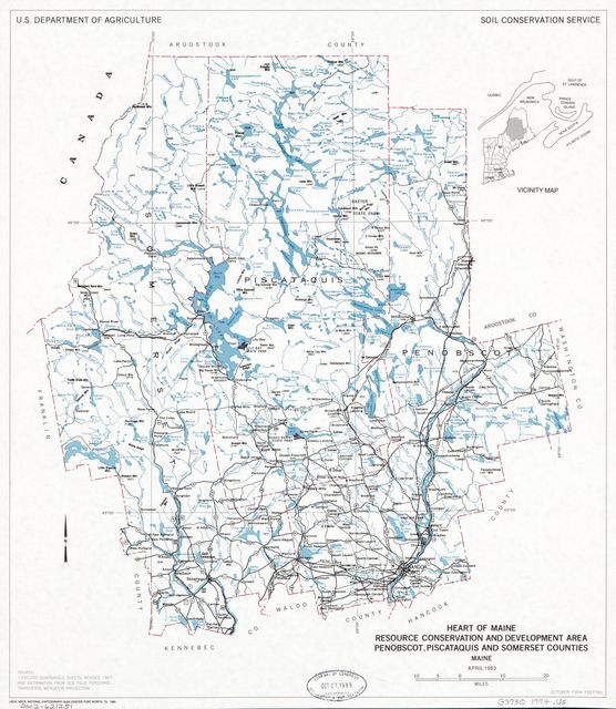 Heart of Maine Resource Conservation and Development Area, Penobscot, Piscataquis, and Somerset counties, Maine : April 1993 /