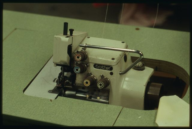 One of three or four types of sewing machine used in the shop.