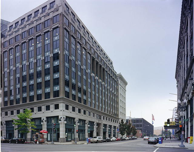 Photographs of a block survey of buildings in downtown Washington, D.C.