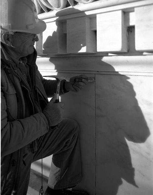 Photographs of the renovation of the Jefferson Memorial, Washington, D.C.