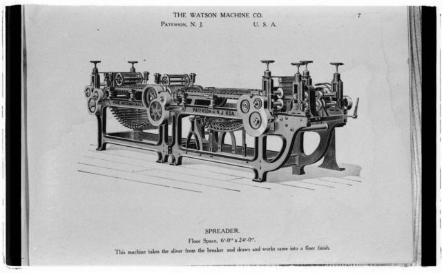Promotional brochure for Watson cordage machinery, ca. 1900.