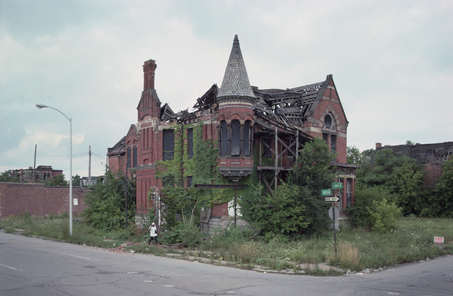 Ransom Gillis Mansion, Alfred at John R Streets, Detroit, August 1994