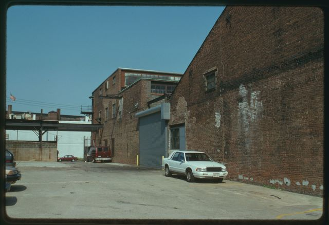 Rear of Watson Machine building looking at back of the current machine shop on the left on the former foundry on the right.