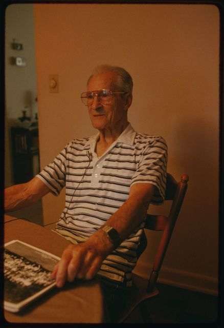 Retired machinist Angelo Basileo in his home in north Haledon, New Jersey.