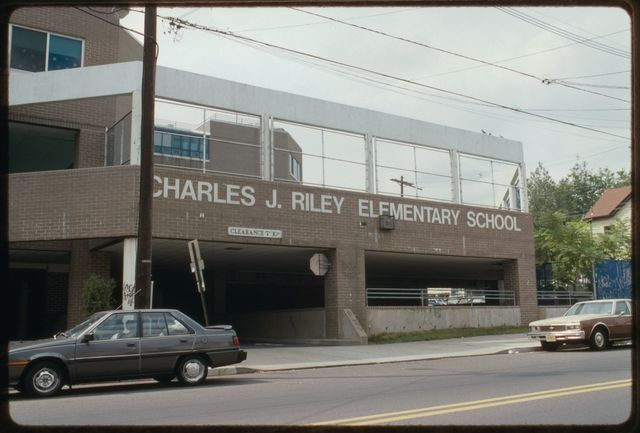 The Charles J. Riley Elementary School on Getty Avenue.