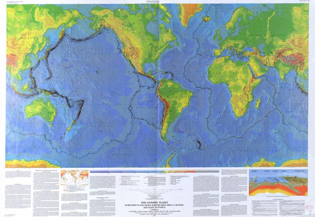 This dynamic planet world map of volcanoes earthquakes impact download high resolution image free public domain gumiabroncs Choice Image