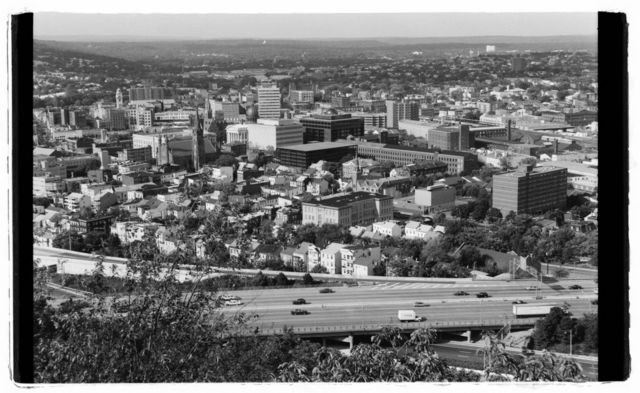 View of downtown Paterson from Garret Mountain.