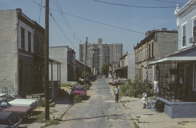 View west along Fern St. from #937, Camden, 1994
