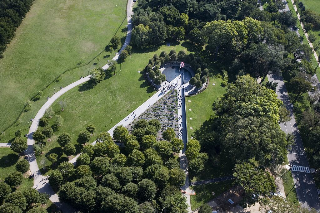 Aerial view of the Korean War Memorial, Washington, D.C.