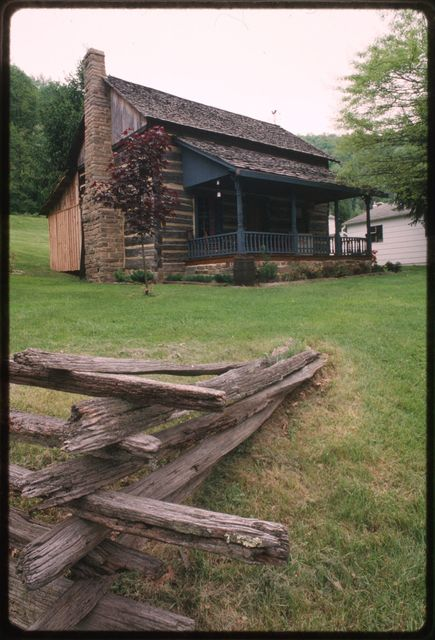 Cobby Dillon's cabin, built of chestnut logs in the early 1900s