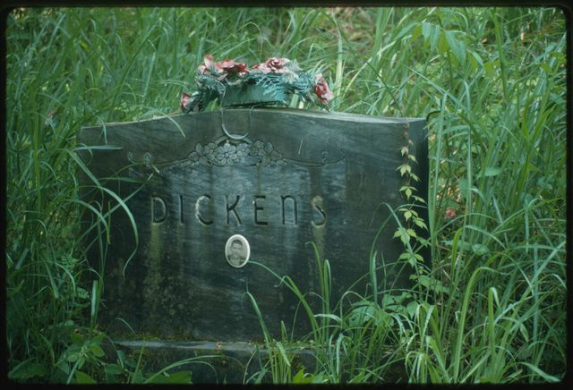Gravestone of Trap Dickens, first cousin to Little Jimmy Dickens (country music entertainer)