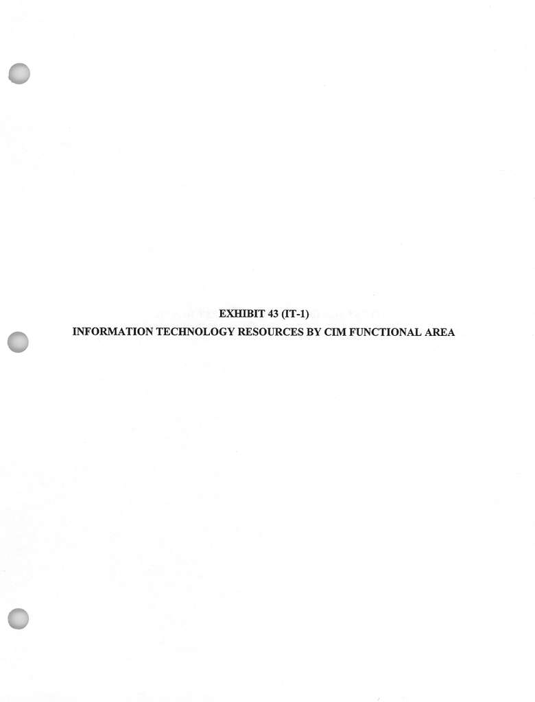 Information Technology Budget FY 19961997 Biennial Budget Estimates, February 1995