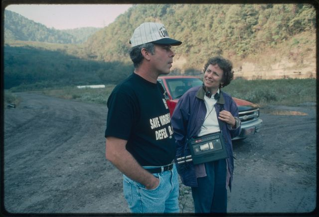 Kenny Lively, United Mine Workers of America (UMWA) union organizer, being interviewed by Mary Hufford