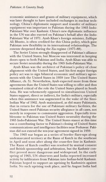 Pakistan : a country study /