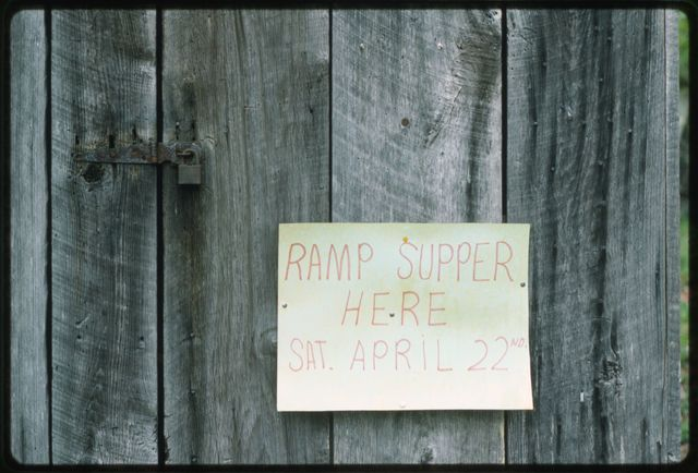 Sign announcing the Pine Knob Ramp Supper