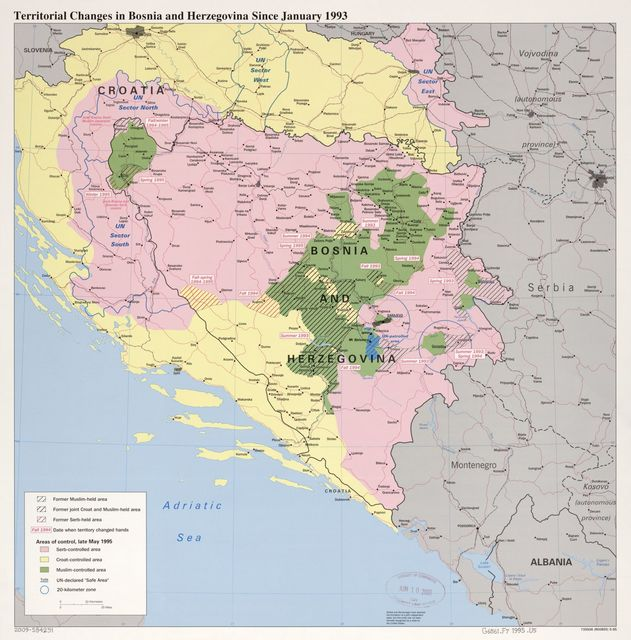 Territorial changes in Bosnia and Herzegovina since January 1993.