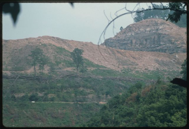 View of Catenary Coal's strip mining project at White Oak