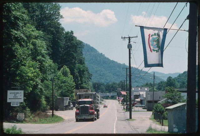 Coal trucks on Route 3, Sylvester, WV