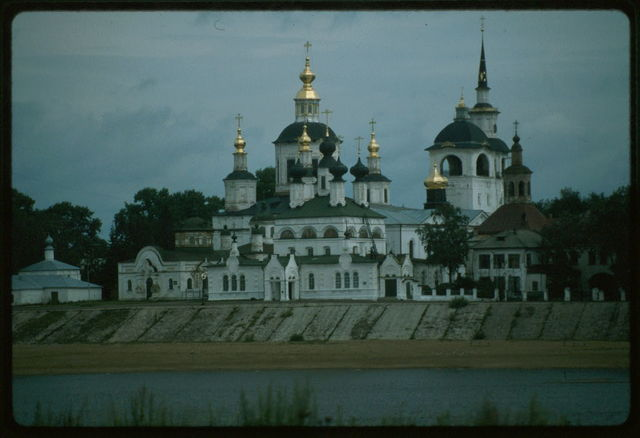 Dormition Cathedral ensemble, west view, Velikii Ustiug, Russia