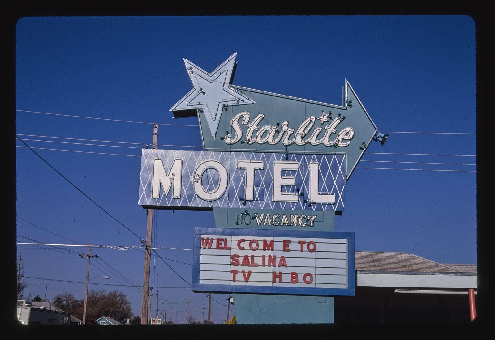 Starlite Motel sign, Route 40, Salina, Kansas