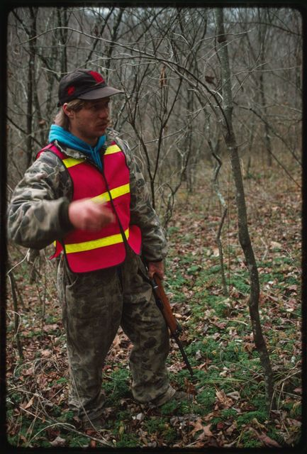 Wesley Scarbrough in his hunting gear