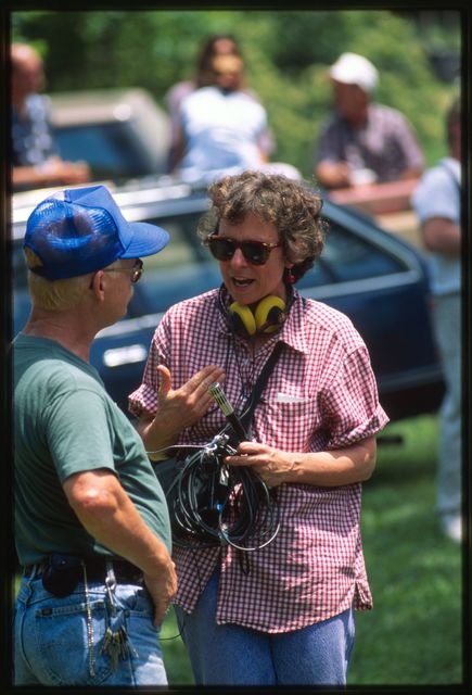 Larry Gibson speaking with Mary Hufford