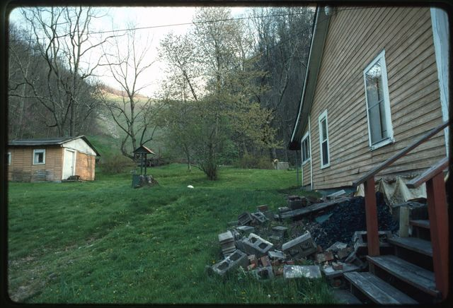 View of a valley fill behind a home on Toney's Fork