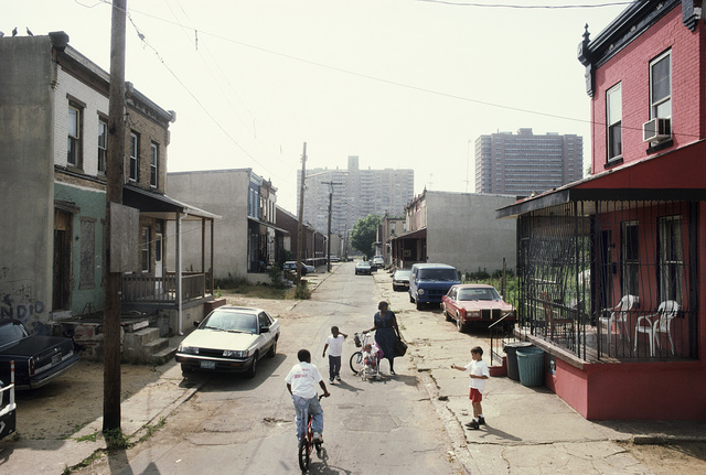 View west along Fern St. from #937 and N. 10th St., Camden, 1997